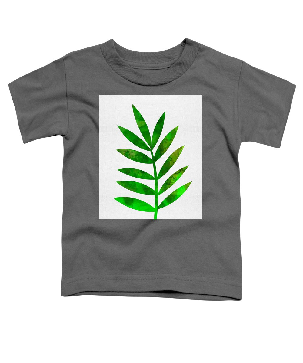 Tropical Leaf Toddler T-Shirt featuring the mixed media Tropical Leaf 3 by Naxart Studio