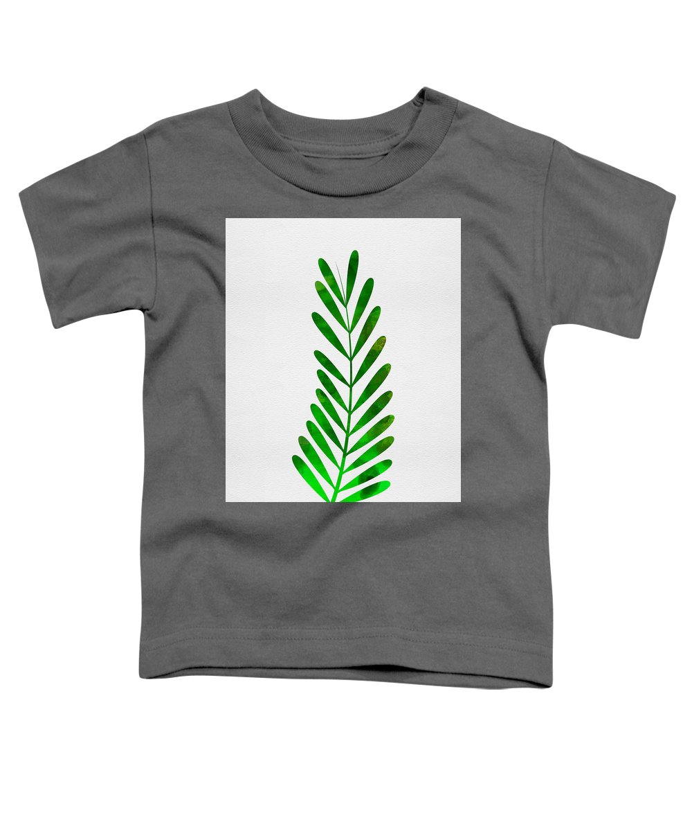 Tropical Leaf Toddler T-Shirt featuring the mixed media Tropical Leaf II by Naxart Studio