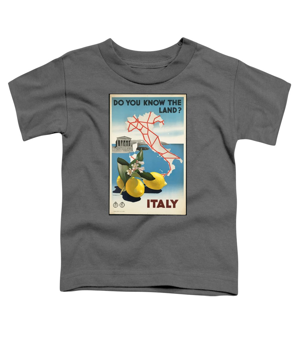 Italy Toddler T-Shirt featuring the painting Vintage Travel Poster - Italy by Esoterica Art Agency