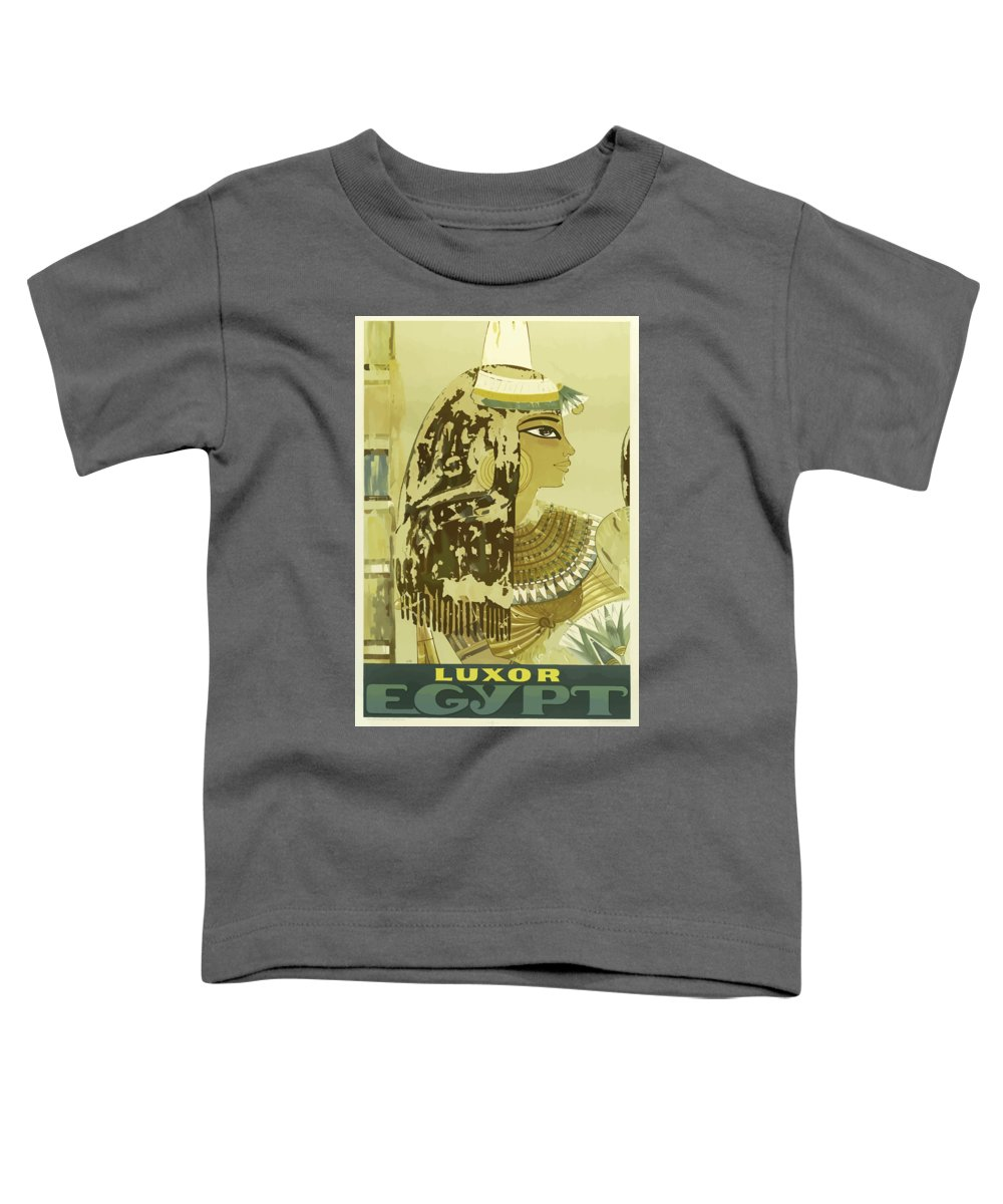 Luxor Toddler T-Shirt featuring the painting Vintage Travel Poster - Luxor, Egypt by Esoterica Art Agency