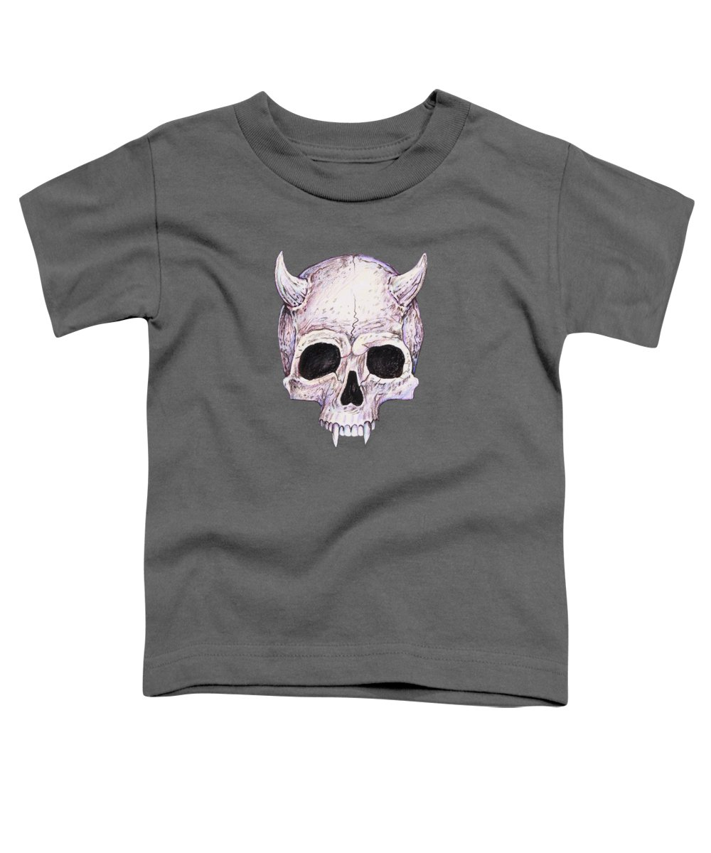 Warlock Toddler T-Shirt featuring the drawing Warlock by Aaron Spong