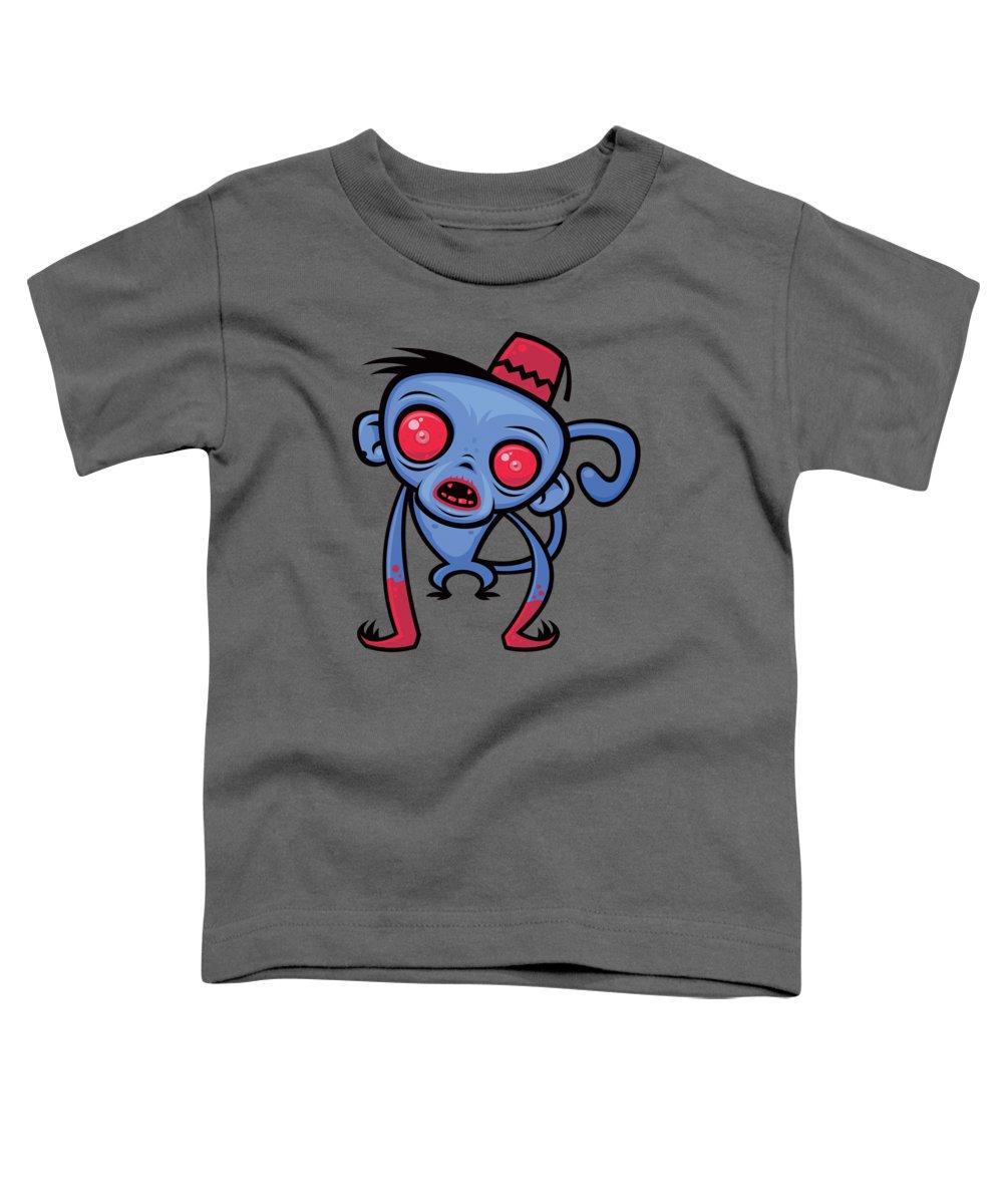 Monkey Toddler T-Shirt featuring the digital art Zombie Monkey by John Schwegel