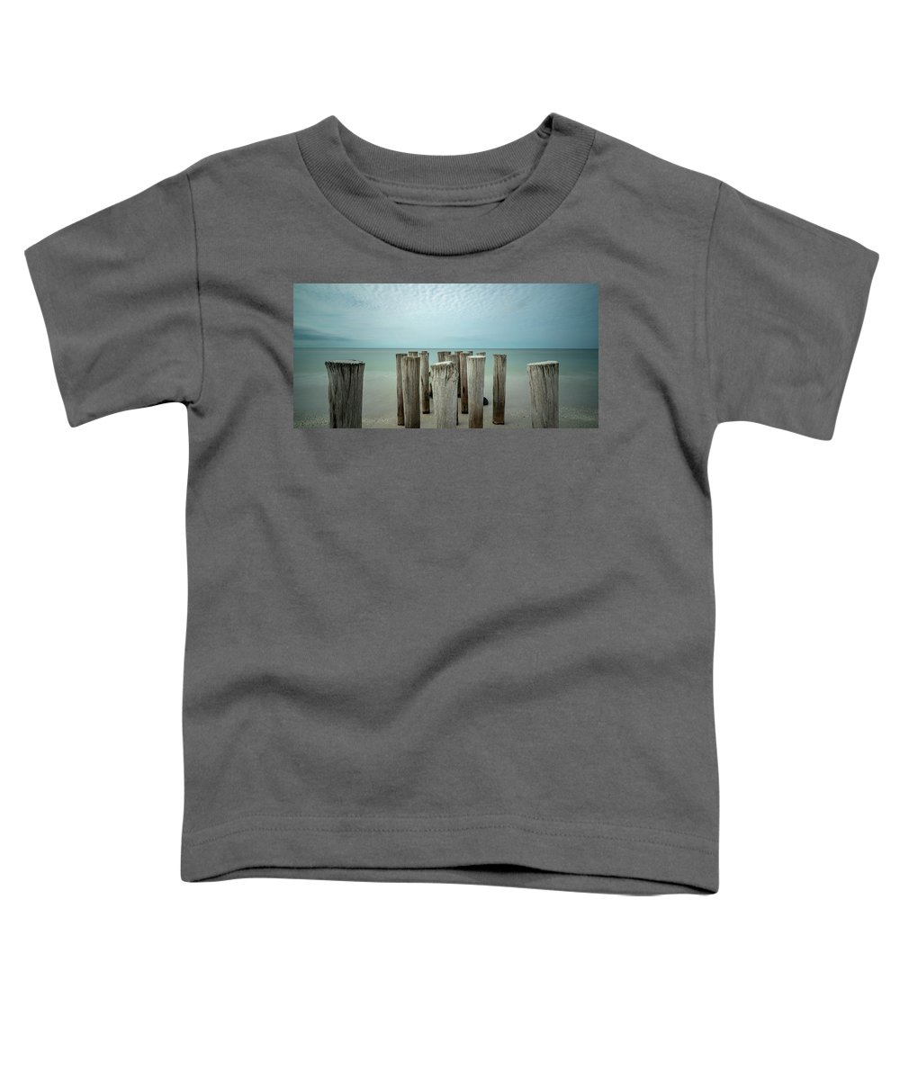 Naples Florida 2021 Toddler T-Shirt featuring the photograph Naples Pilings 2021 by Joey Waves