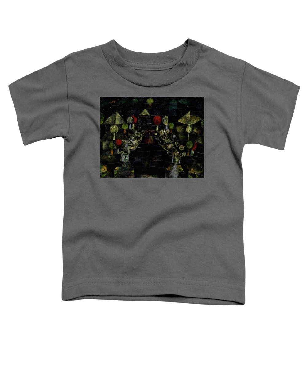 Paul Klee Toddler T-Shirt featuring the painting Women's Pavilion by Paul Klee
