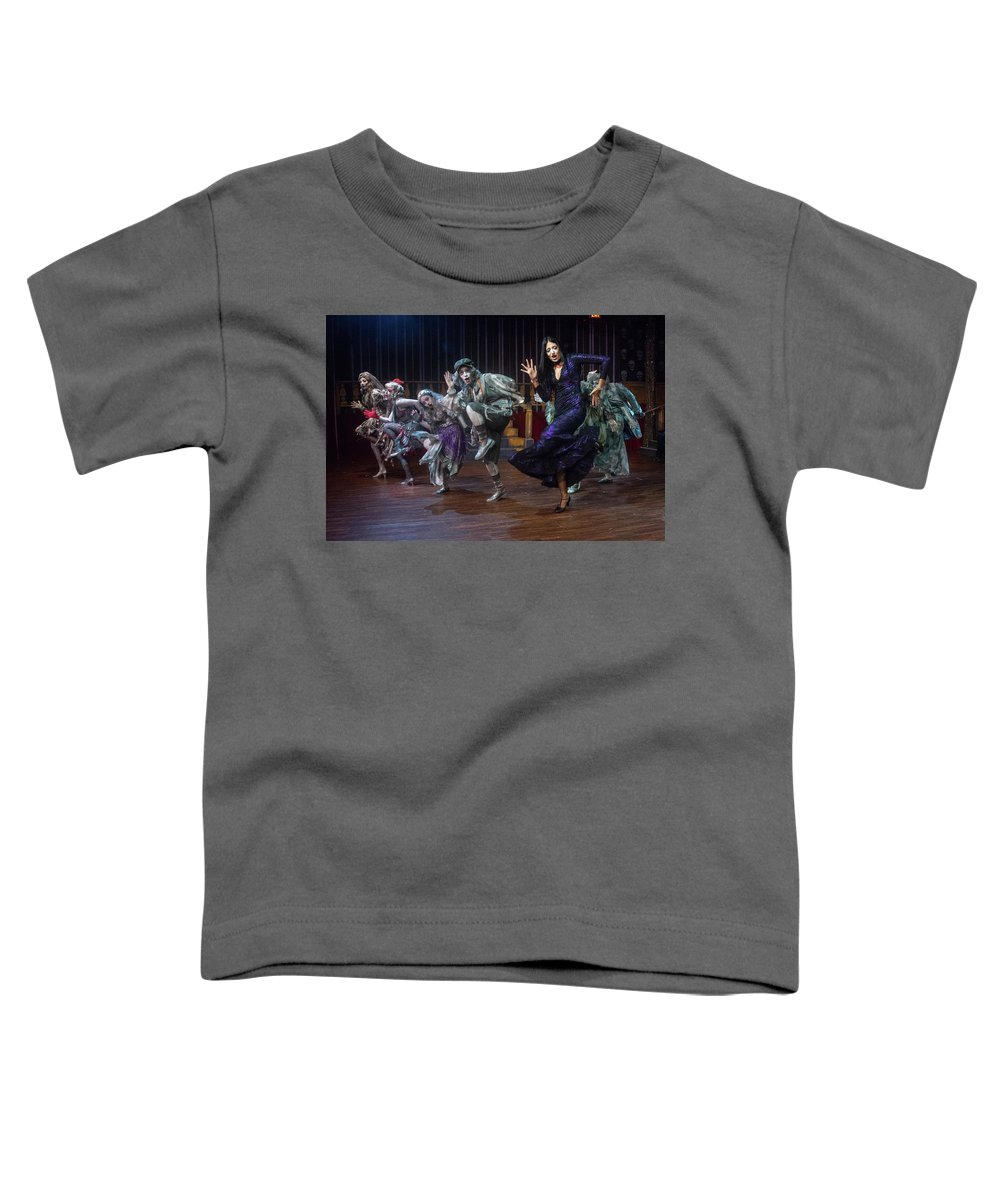 Adams Family Toddler T-Shirt featuring the photograph Dance With The Relatives by Alan D Smith