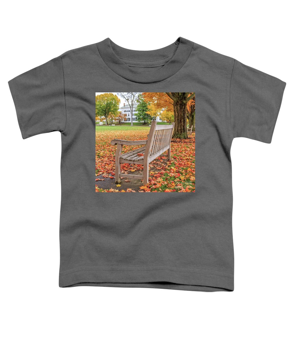 Dartmouth Toddler T-Shirt featuring the photograph Dartmouth Hanover Green In Autumn Square by Edward Fielding
