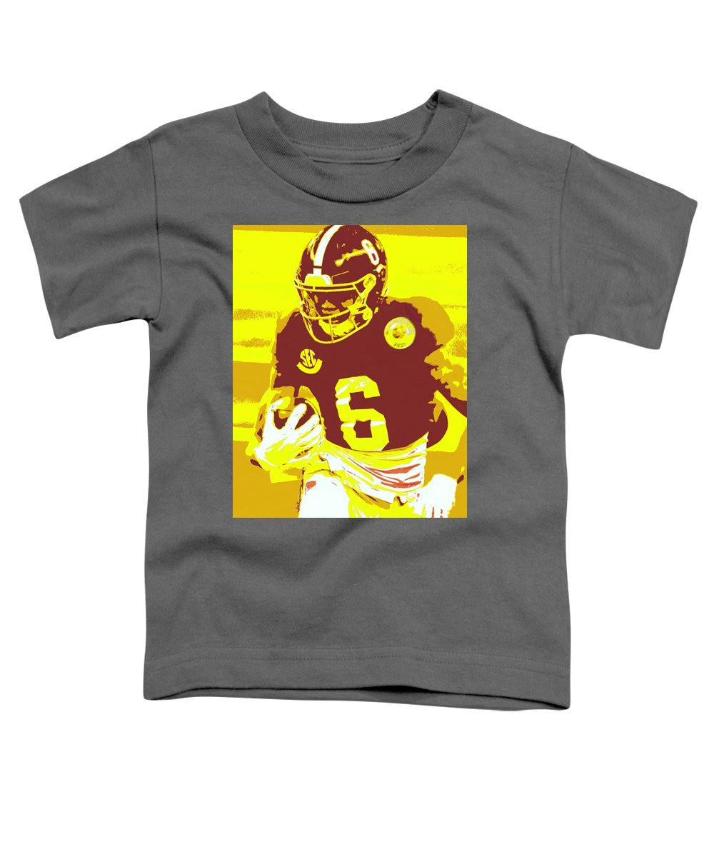 Devonta Smith Toddler T-Shirt featuring the painting DeVonta Smith by Jack Bunds