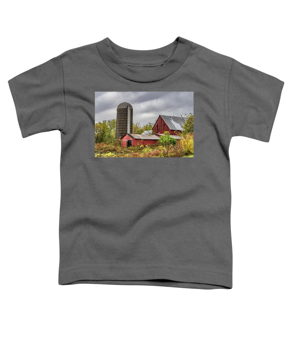 Landscape Toddler T-Shirt featuring the photograph Indiana Barn #108 by Scott Smith