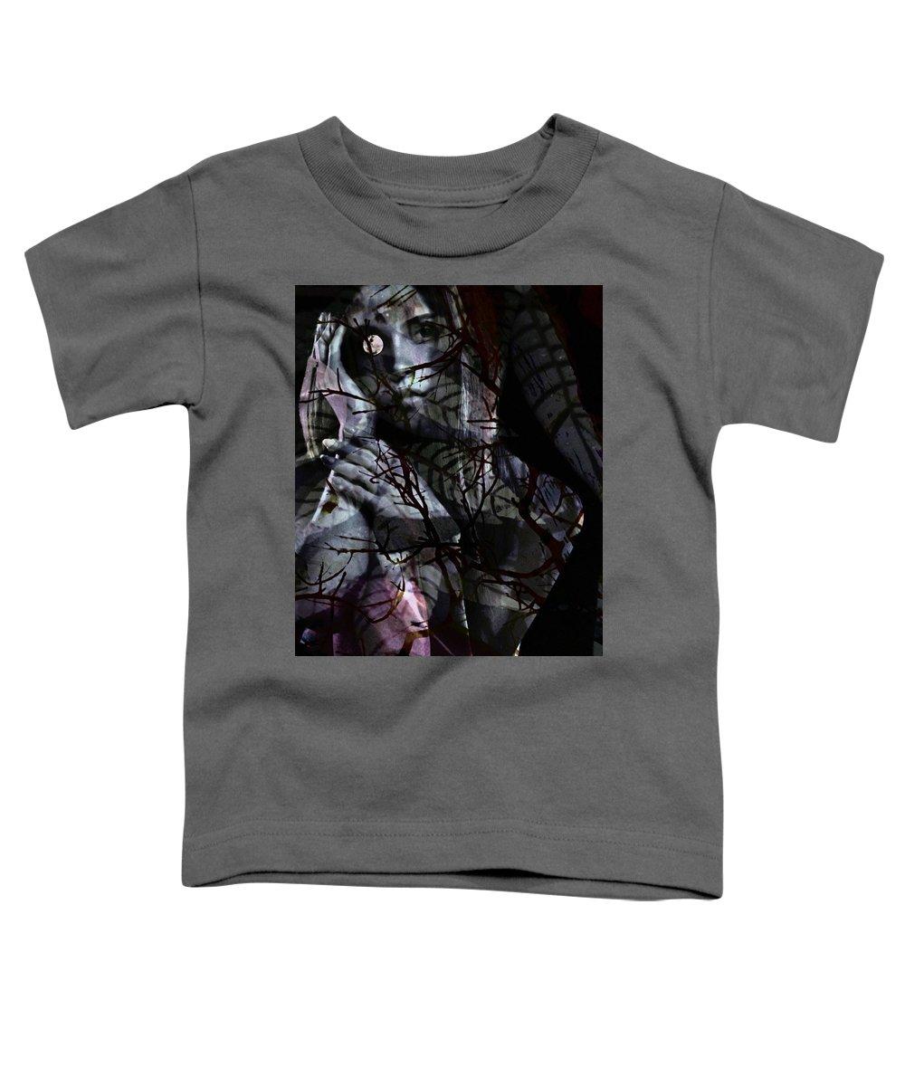 Woman Toddler T-Shirt featuring the digital art Luna by Gunilla Munro Gyllenspetz