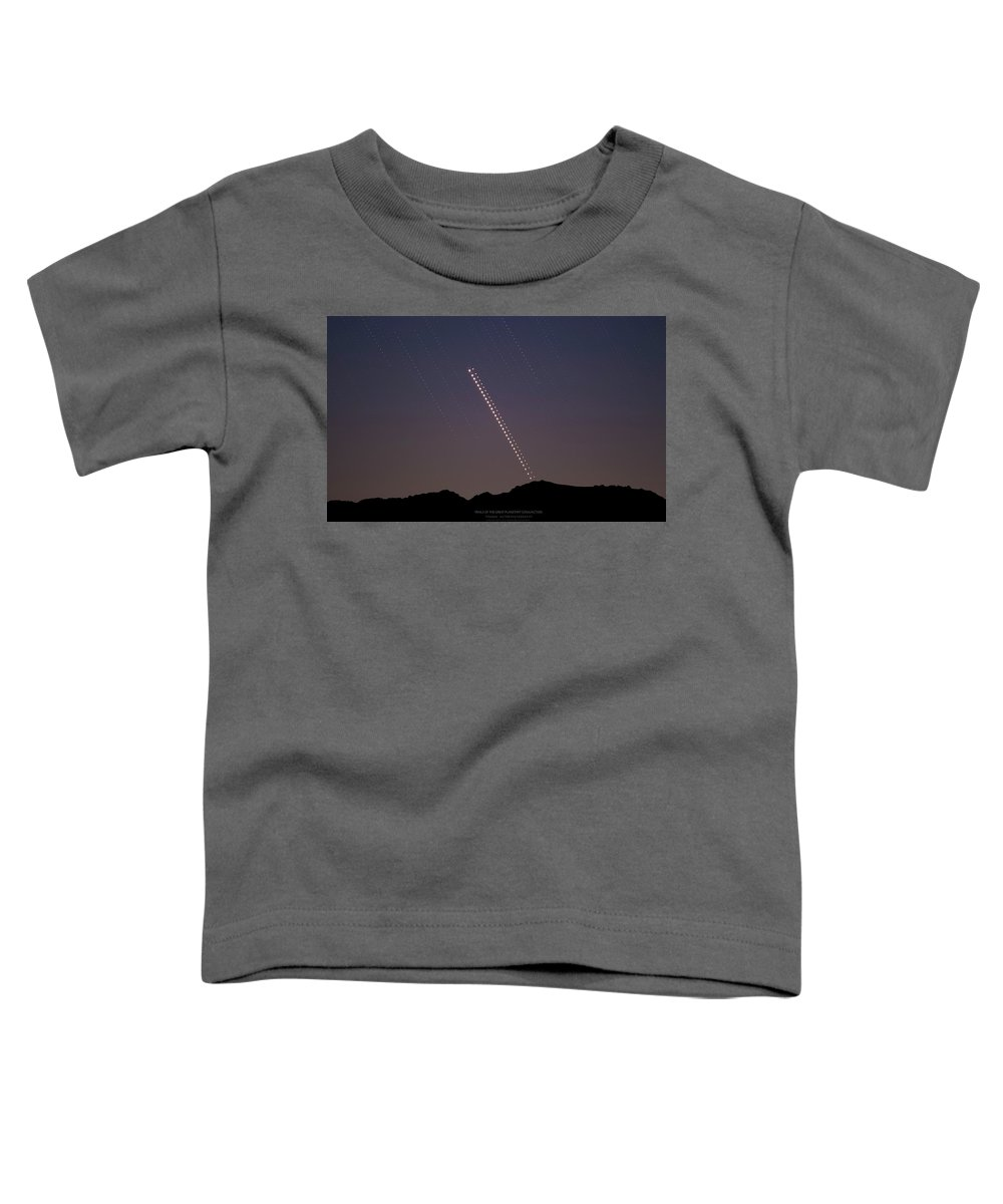 Toddler T-Shirt featuring the photograph Trails of the Great Planetary Conjunction by Prabhu Astrophotography