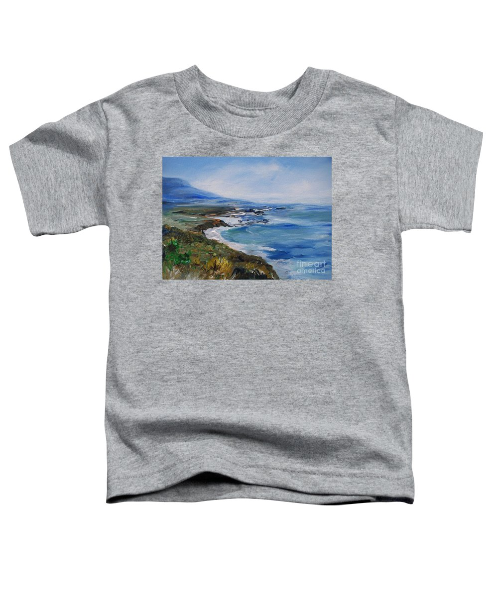 California Coast Toddler T-Shirt featuring the painting Big Sur Coastline by Eric Schiabor