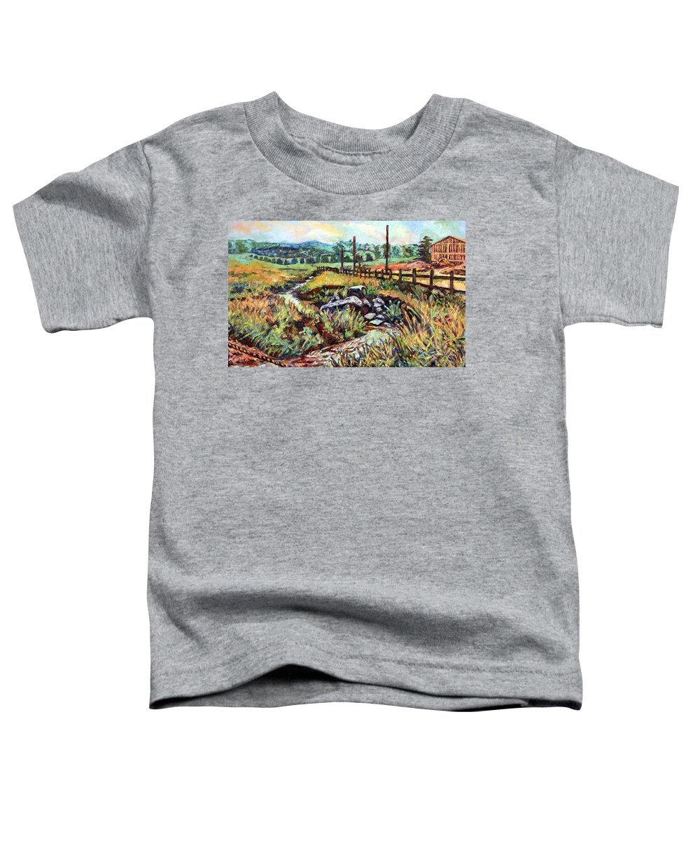 Landscape Paintings Toddler T-Shirt featuring the painting Stroubles Creek by Kendall Kessler