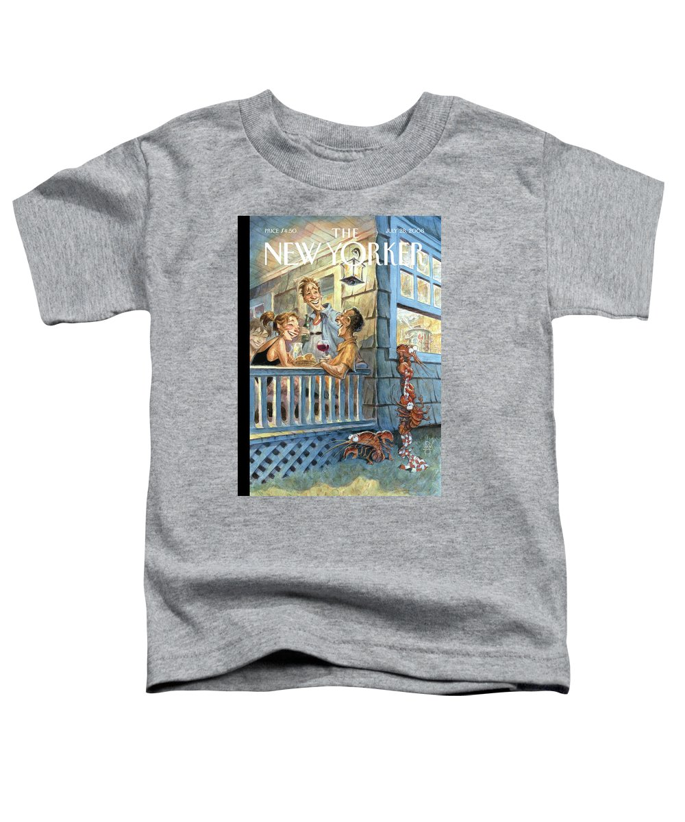 By Peter De Seve Toddler T-Shirt featuring the painting New Yorker July 28th, 2008 by Peter de Seve