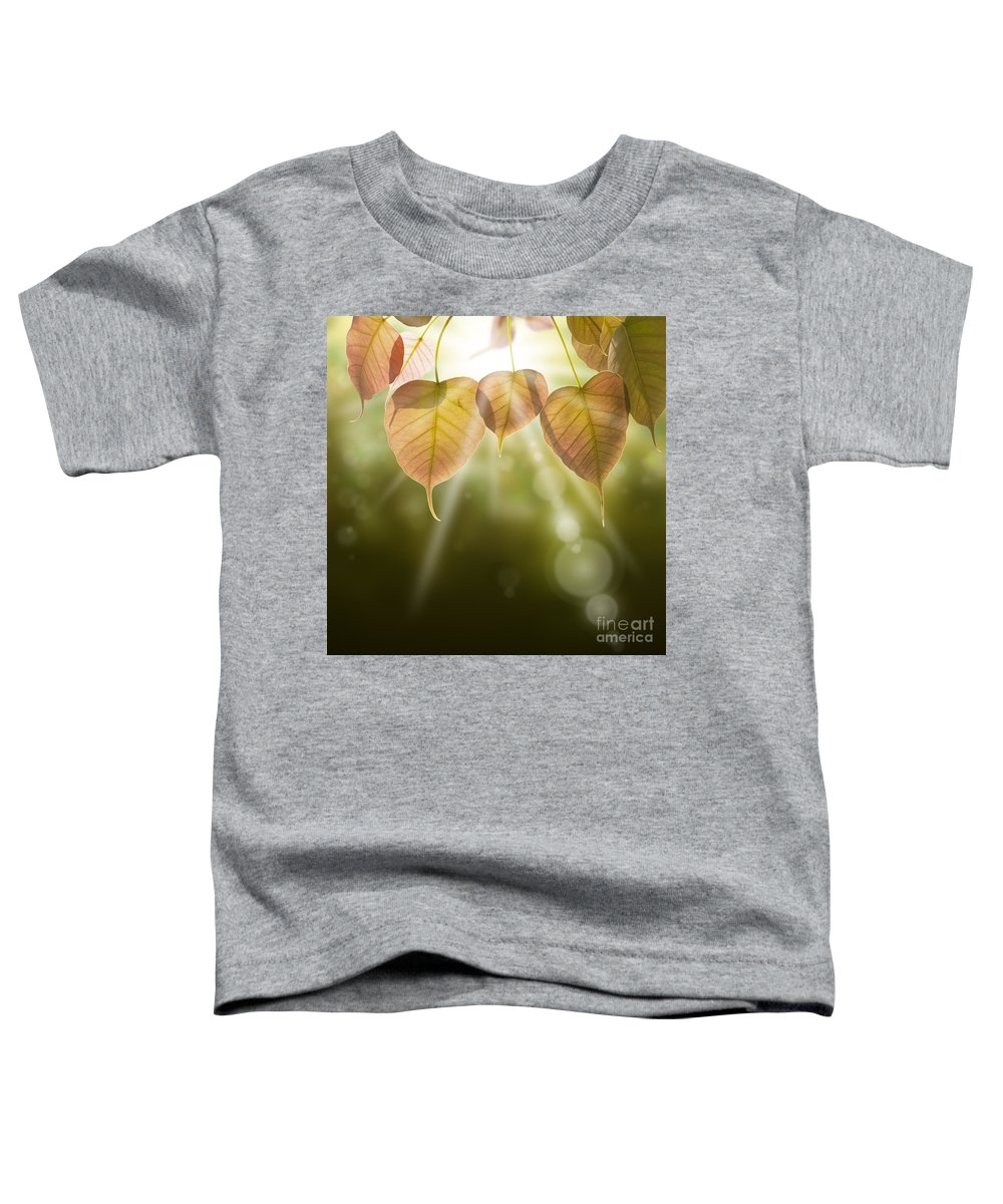 Autumn Toddler T-Shirt featuring the photograph Pho Or Bodhi by Atiketta Sangasaeng