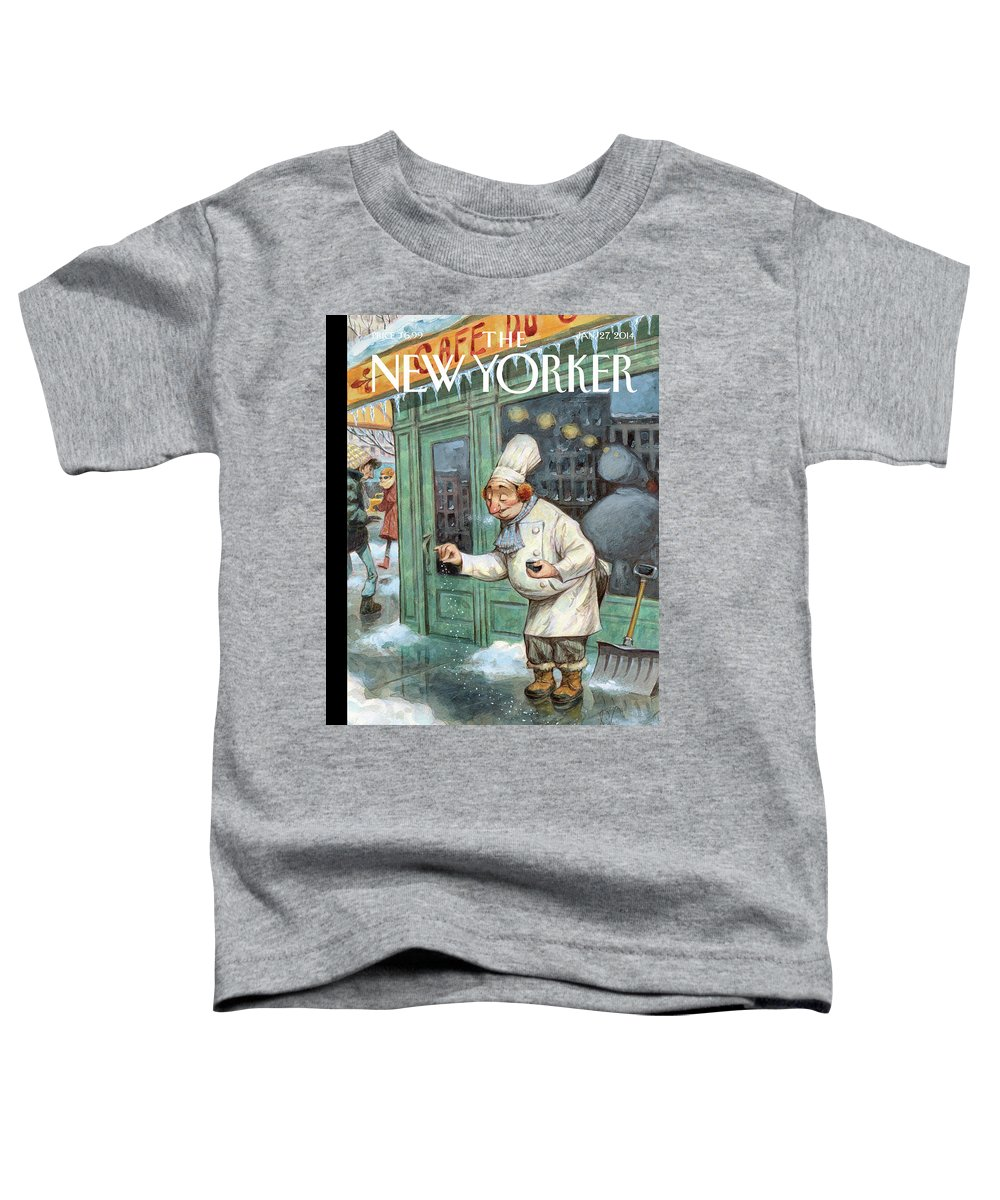 Cooking Toddler T-Shirt featuring the painting Just a Pinch by Peter de Seve