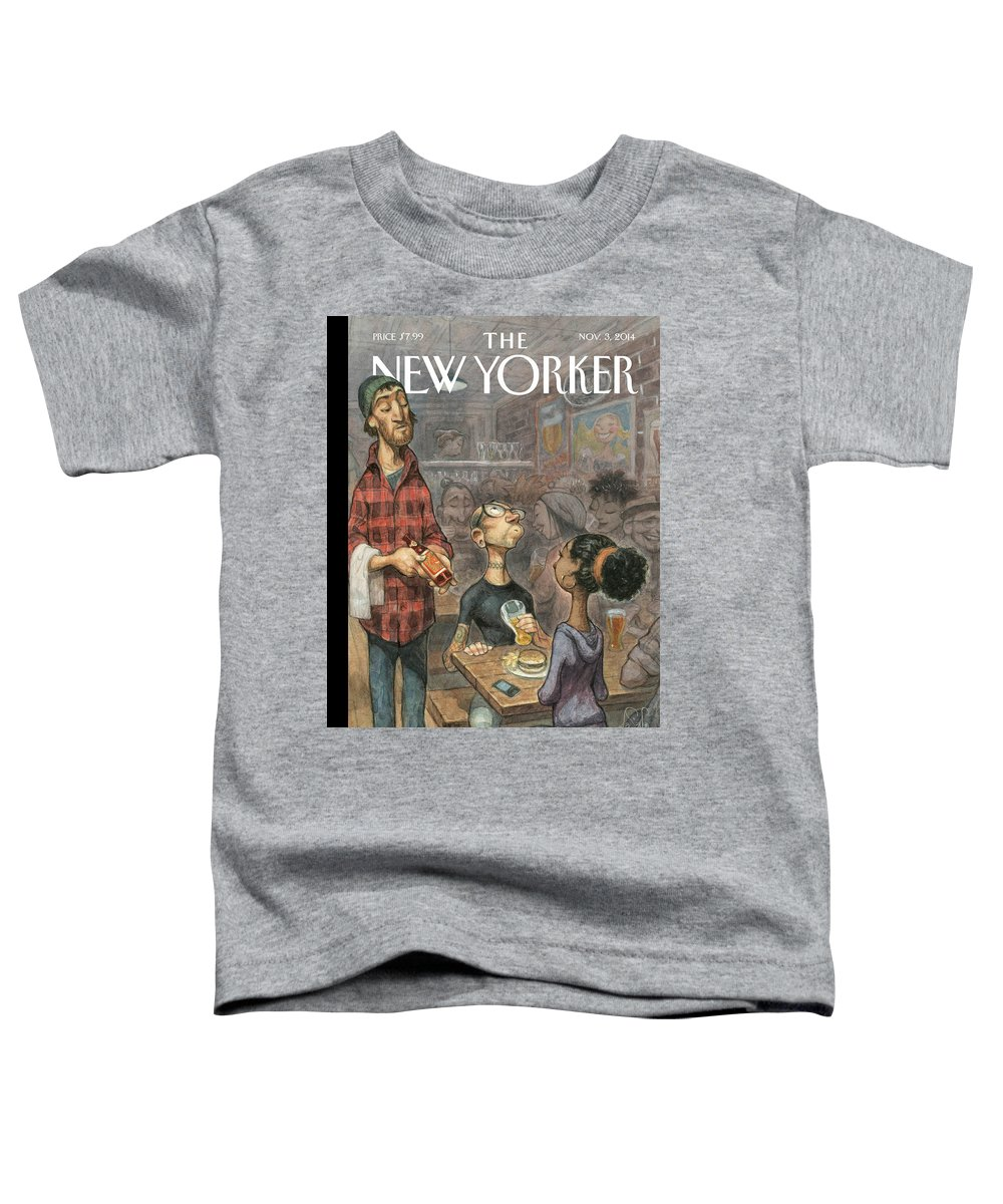 Elite Toddler T-Shirt featuring the painting Hip Hops by Peter de Seve