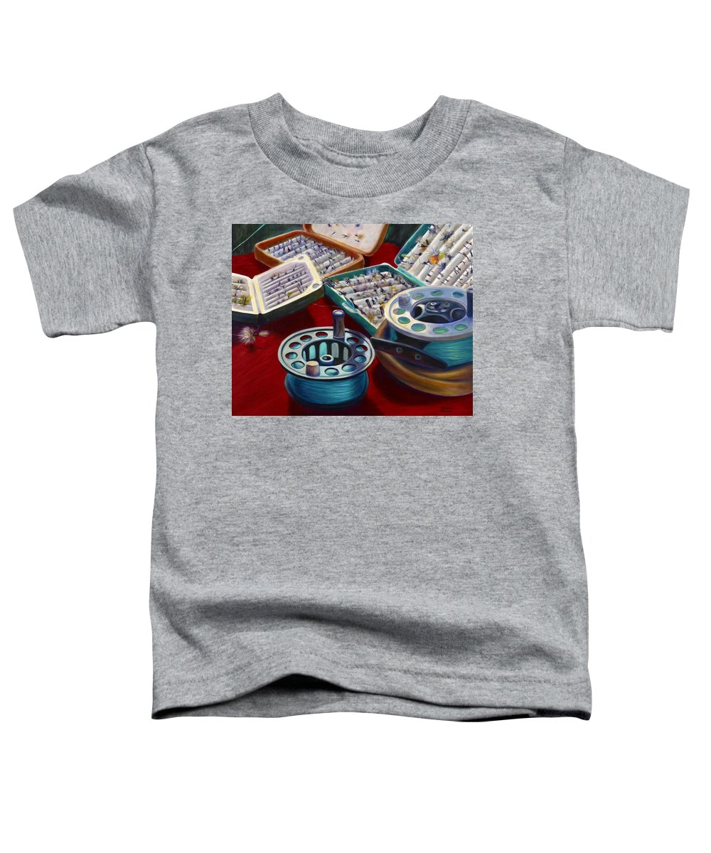 Still Life Toddler T-Shirt featuring the painting A Howard Runs Through It by Shannon Grissom