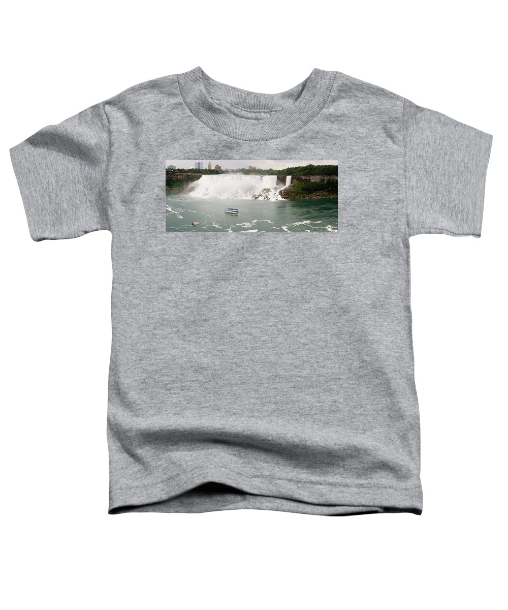 3scape Photos Toddler T-Shirt featuring the photograph American Falls by Adam Romanowicz