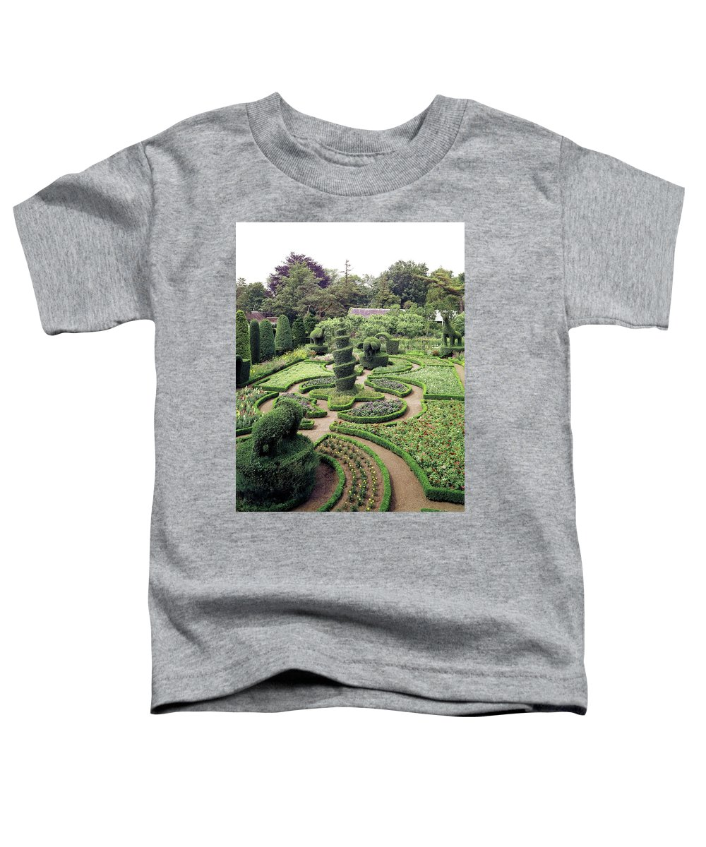 Exterior Toddler T-Shirt featuring the photograph An Ornamental Garden by Tom Leonard