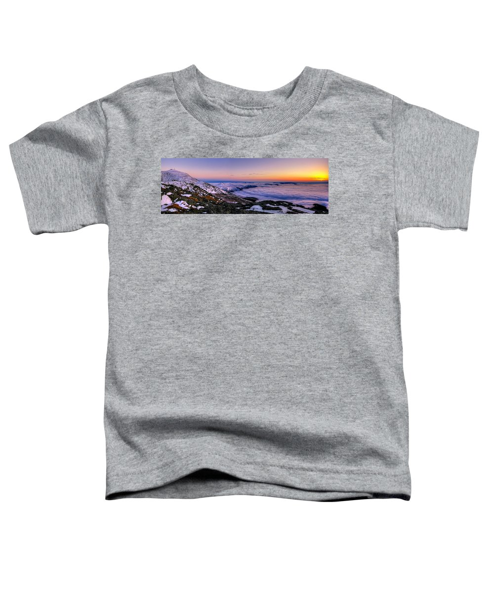 New Hampshire Toddler T-Shirt featuring the photograph An Undercast Sunset Panorama by Chris Whiton