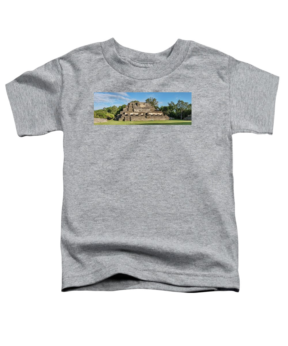 Photography Toddler T-Shirt featuring the photograph Ancient Mayan Ruins, Altun Ha, Belize by Panoramic Images