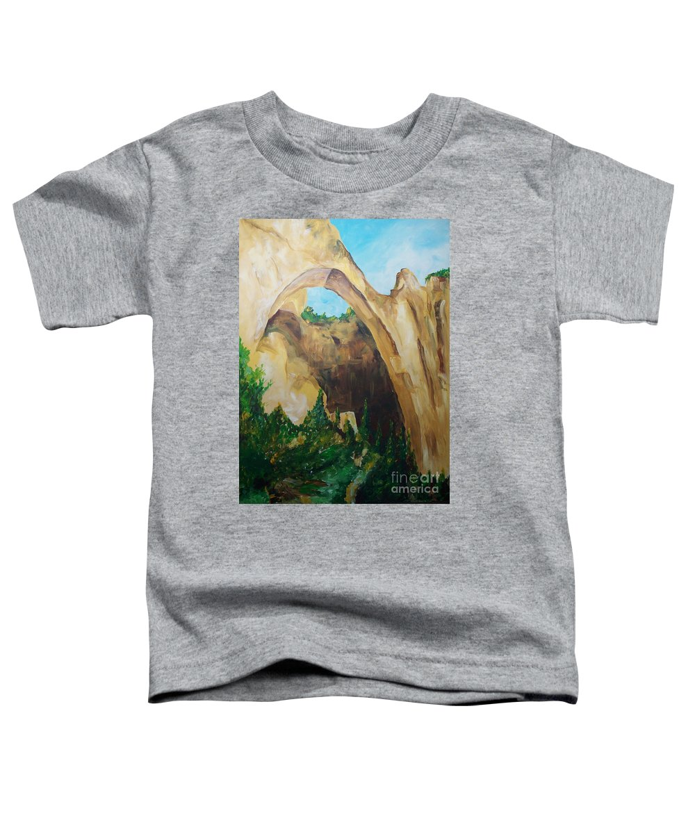 Floral Toddler T-Shirt featuring the painting Arch by Eric Schiabor