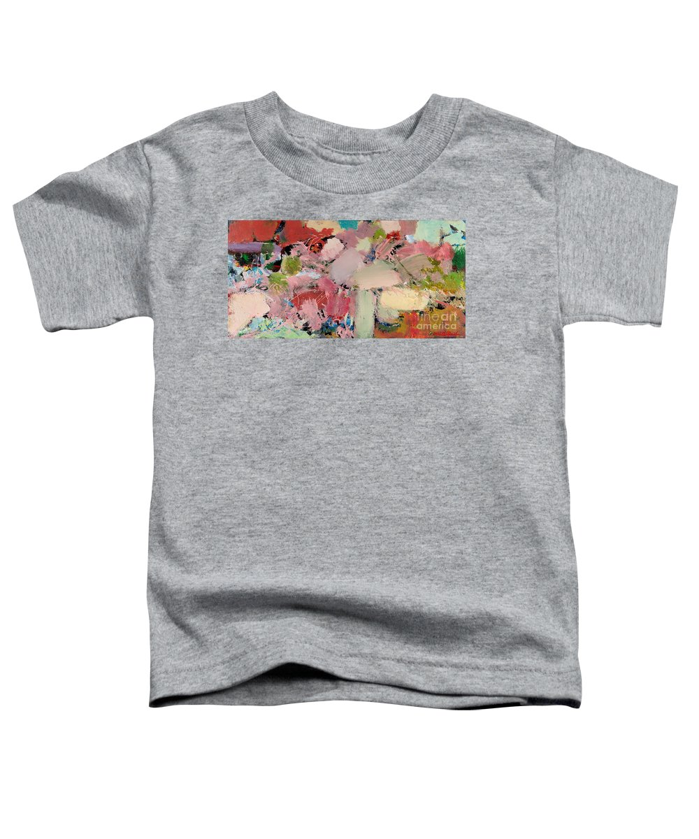 Landscape Toddler T-Shirt featuring the painting Azaleas by Allan P Friedlander