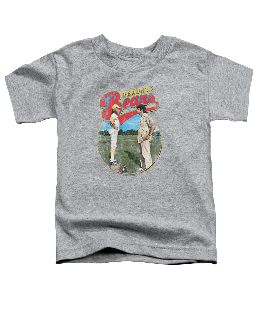 Bad News Bears Toddler T-Shirt featuring the digital art Bad News Bears - Vintage by Brand A