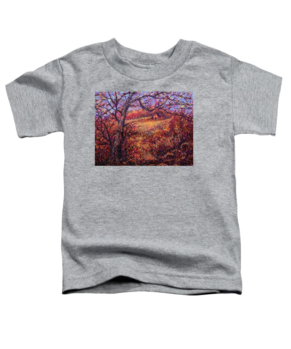 Autumn Toddler T-Shirt featuring the painting Beautiful Autumn by Natalie Holland