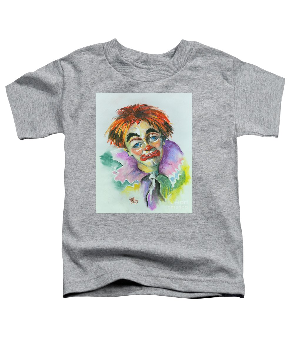Canvas Print Toddler T-Shirt featuring the painting Blue Eyes by Elisabeta Hermann