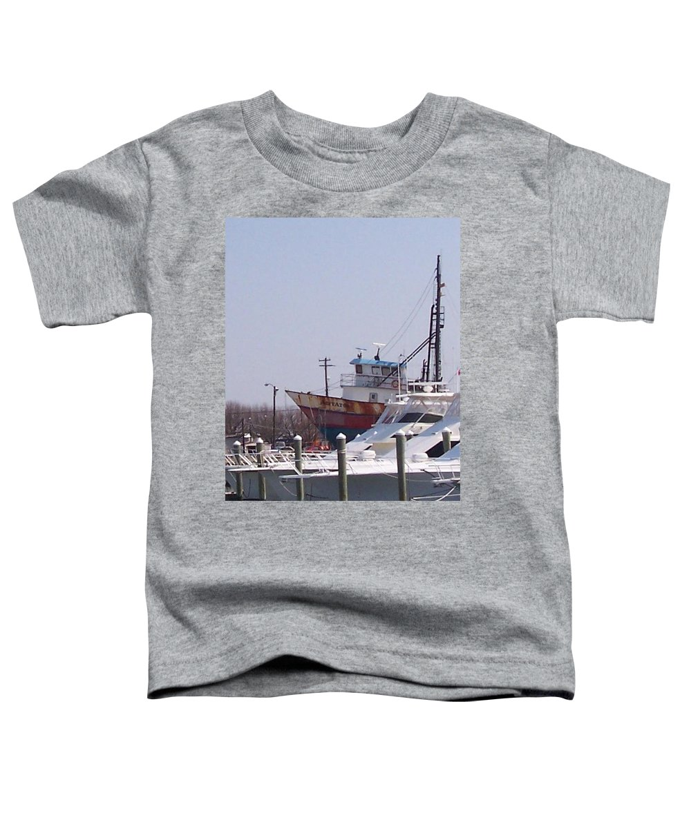Boat Toddler T-Shirt featuring the photograph Boats Docked by Pharris Art