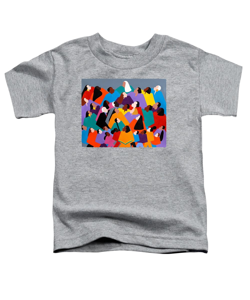 Figurative Toddler T-Shirt featuring the painting Brilliance by Synthia SAINT JAMES