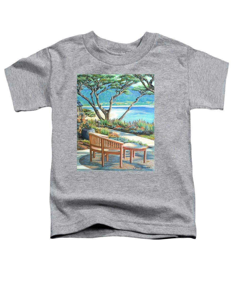 Carmel Toddler T-Shirt featuring the painting Carmel Lagoon View by Jane Girardot