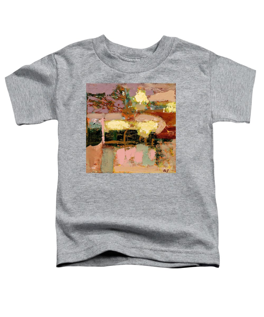 Landscape Toddler T-Shirt featuring the painting Chopped Liver by Allan P Friedlander