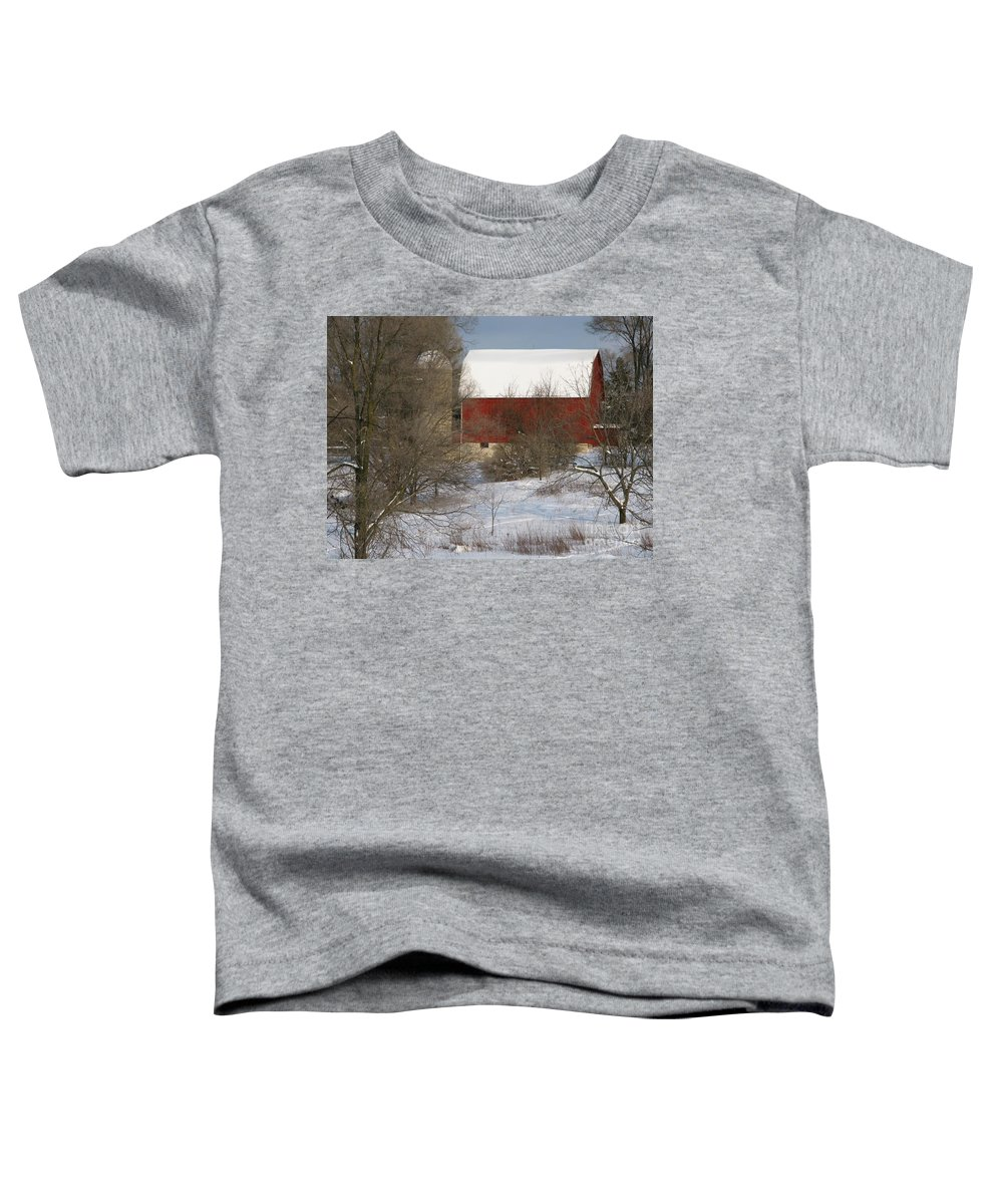 Winter Toddler T-Shirt featuring the photograph Country Winter by Ann Horn