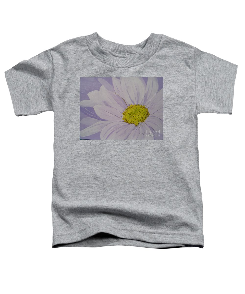 Daisy Toddler T-Shirt featuring the painting Daisy by Anthony Dunphy