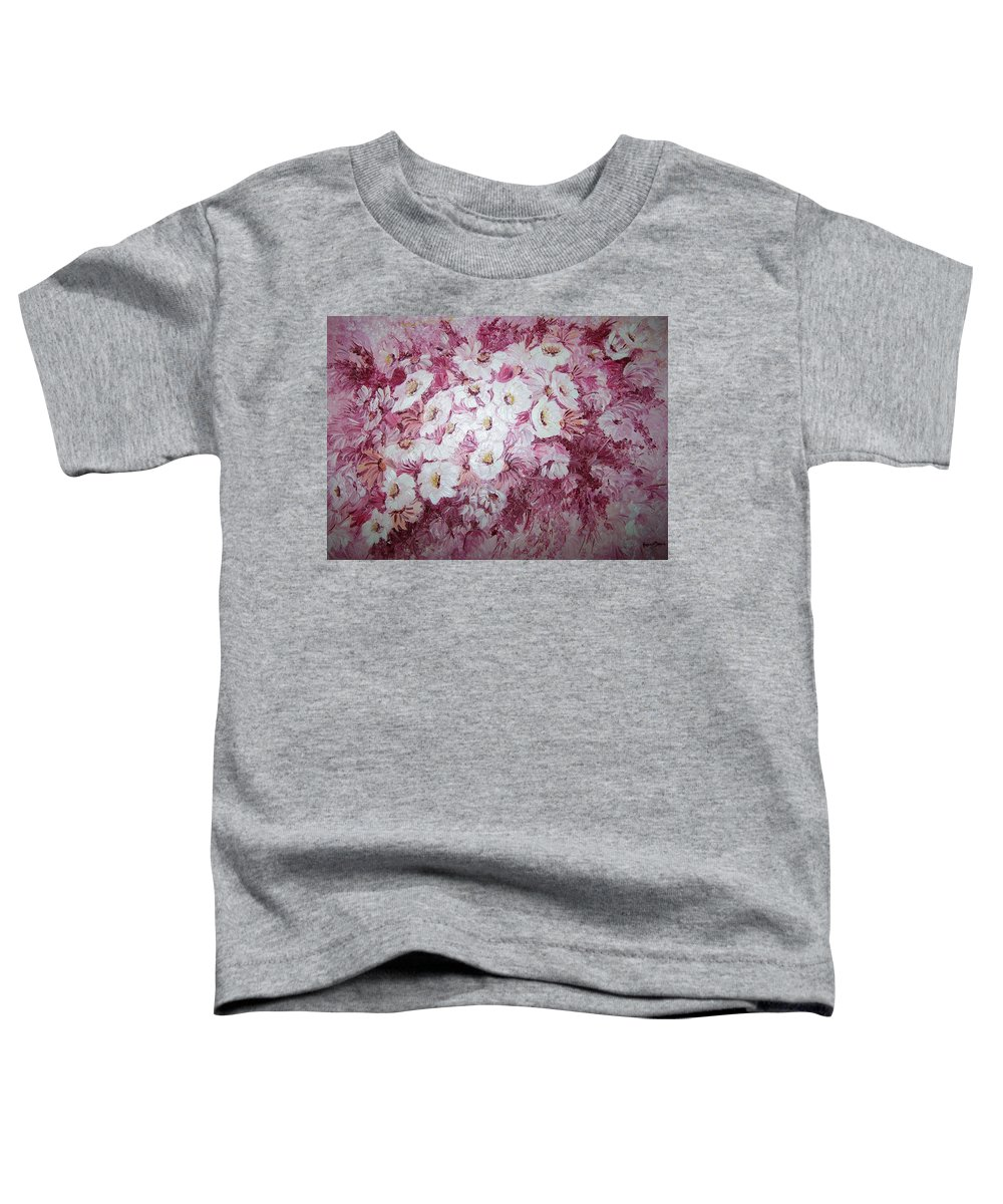 Toddler T-Shirt featuring the painting Daisy Blush by Karin Dawn Kelshall- Best