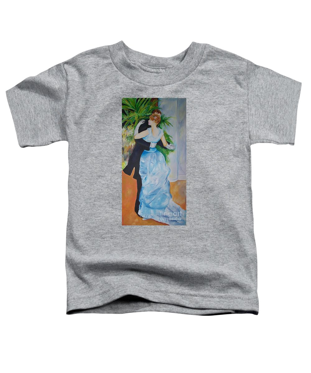 Lavender Toddler T-Shirt featuring the painting Dance In The City by Eric Schiabor