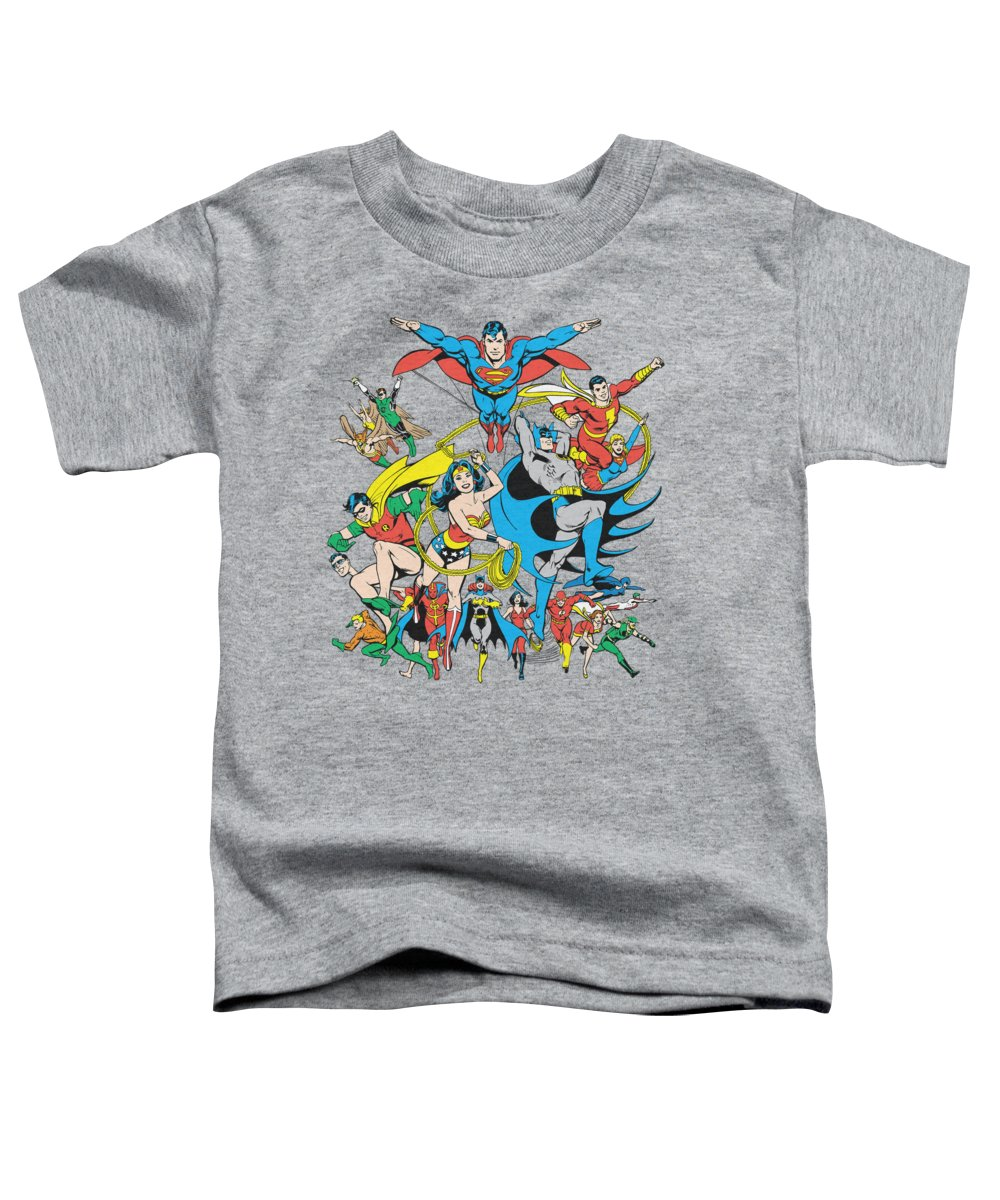 Dc Comics Toddler T-Shirt featuring the digital art Dc - Justice League Assemble by Brand A