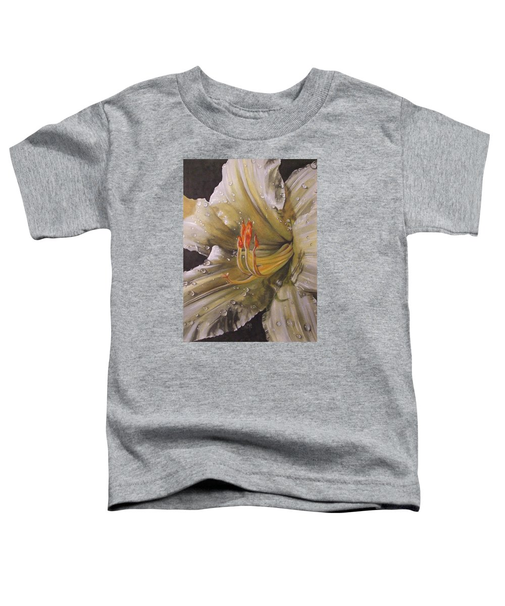 Daylily Toddler T-Shirt featuring the painting Diamonds by Barbara Keith
