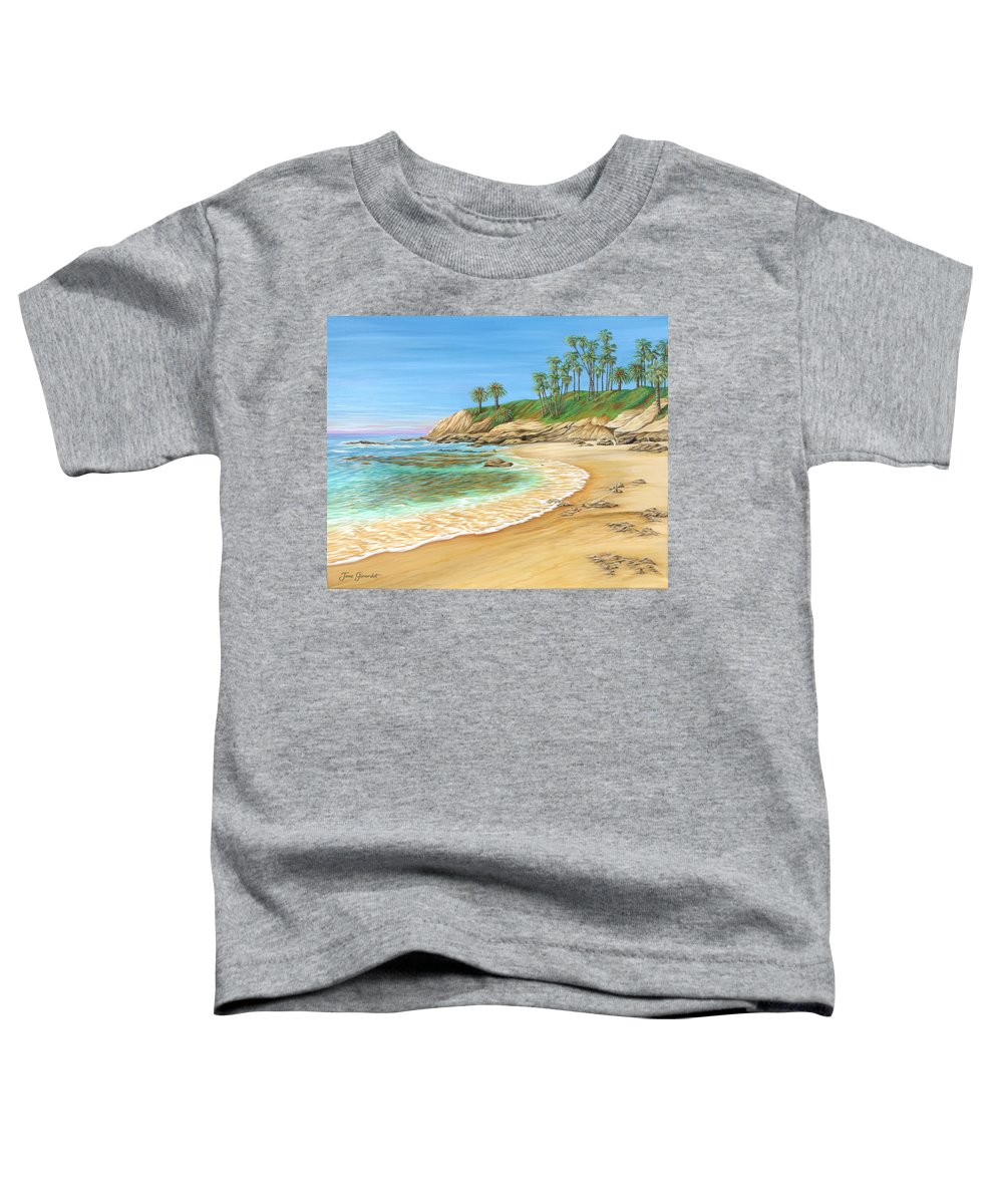 Beach Toddler T-Shirt featuring the painting Early Morning Laguna by Jane Girardot