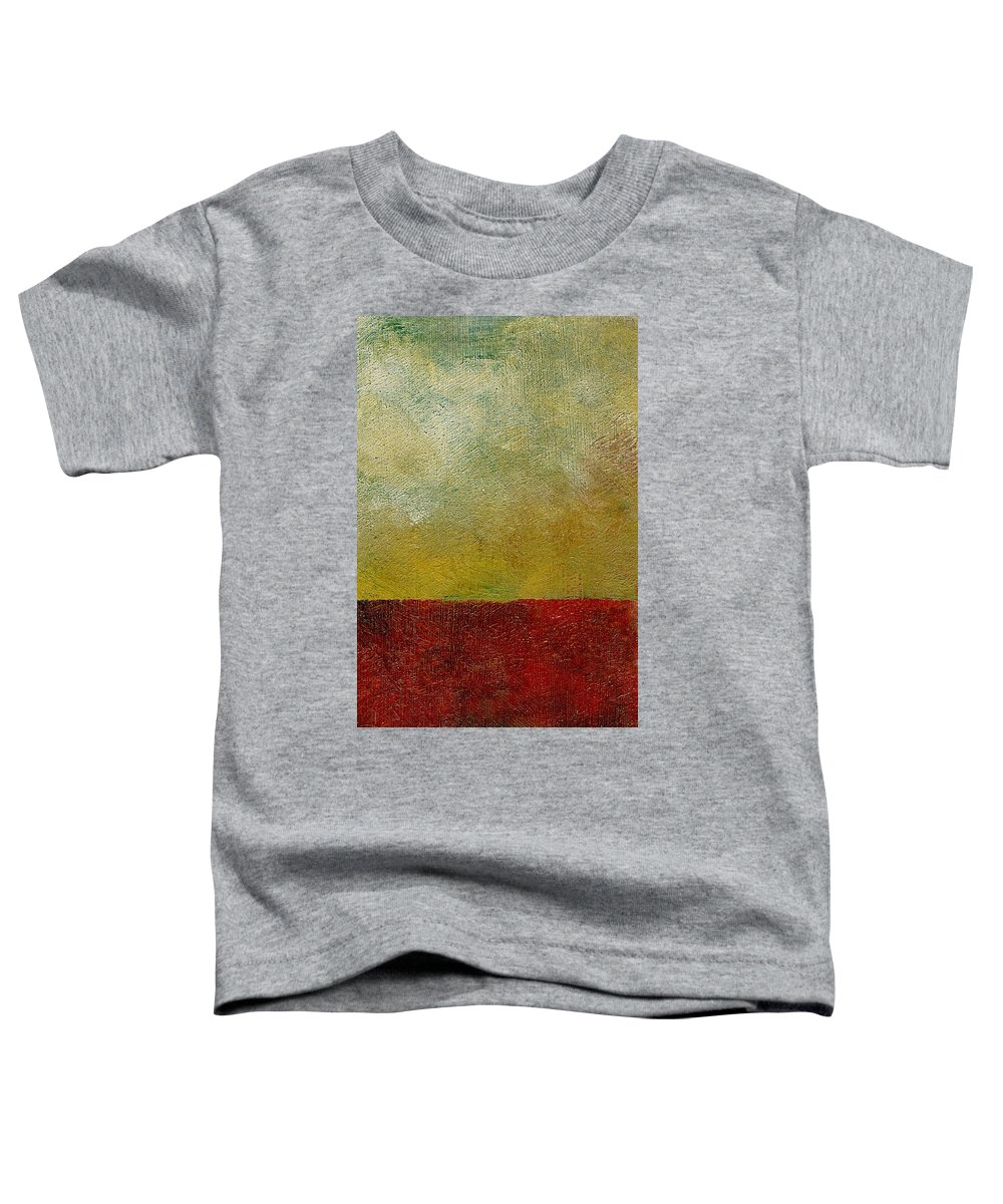 Abstract Landscape Toddler T-Shirt featuring the painting Earth Study One by Michelle Calkins