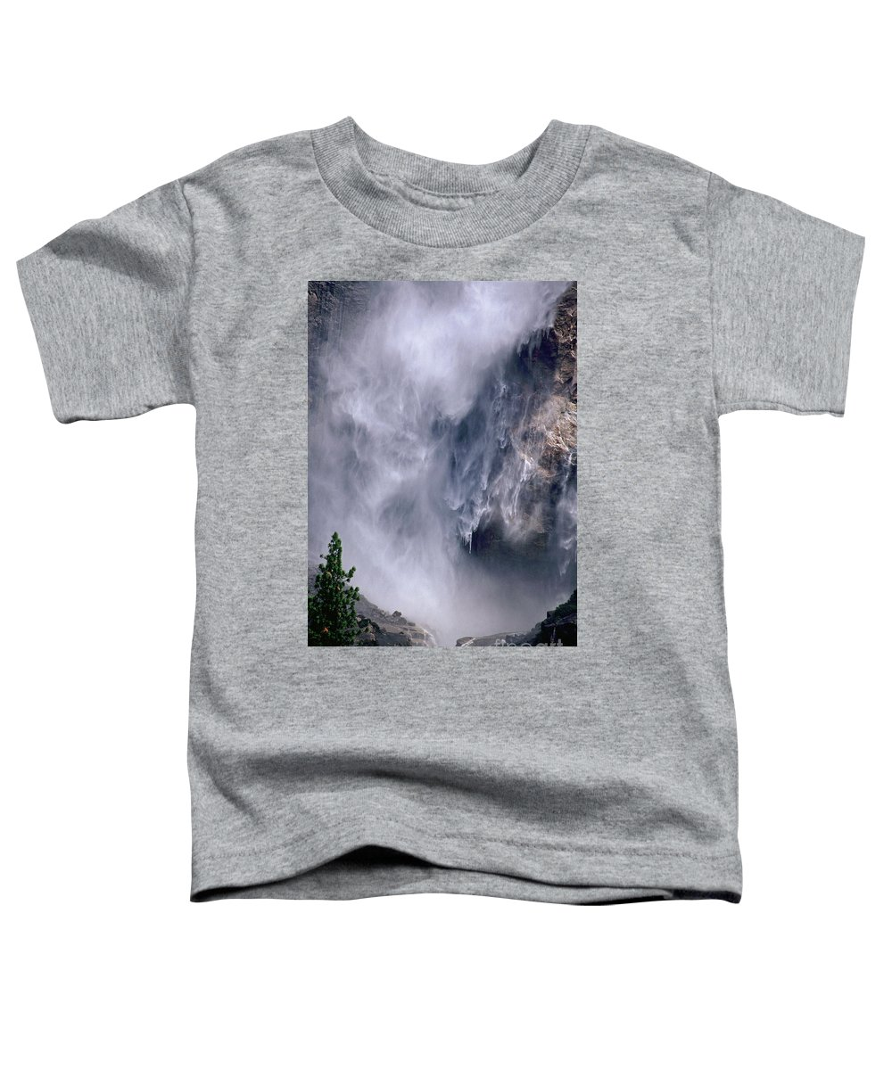 Waterfall Toddler T-Shirt featuring the photograph Falling Water by Kathy McClure