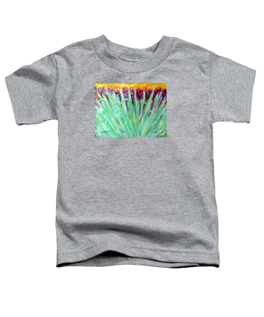 Abstract Toddler T-Shirt featuring the painting Festoon by Laurie Morgan