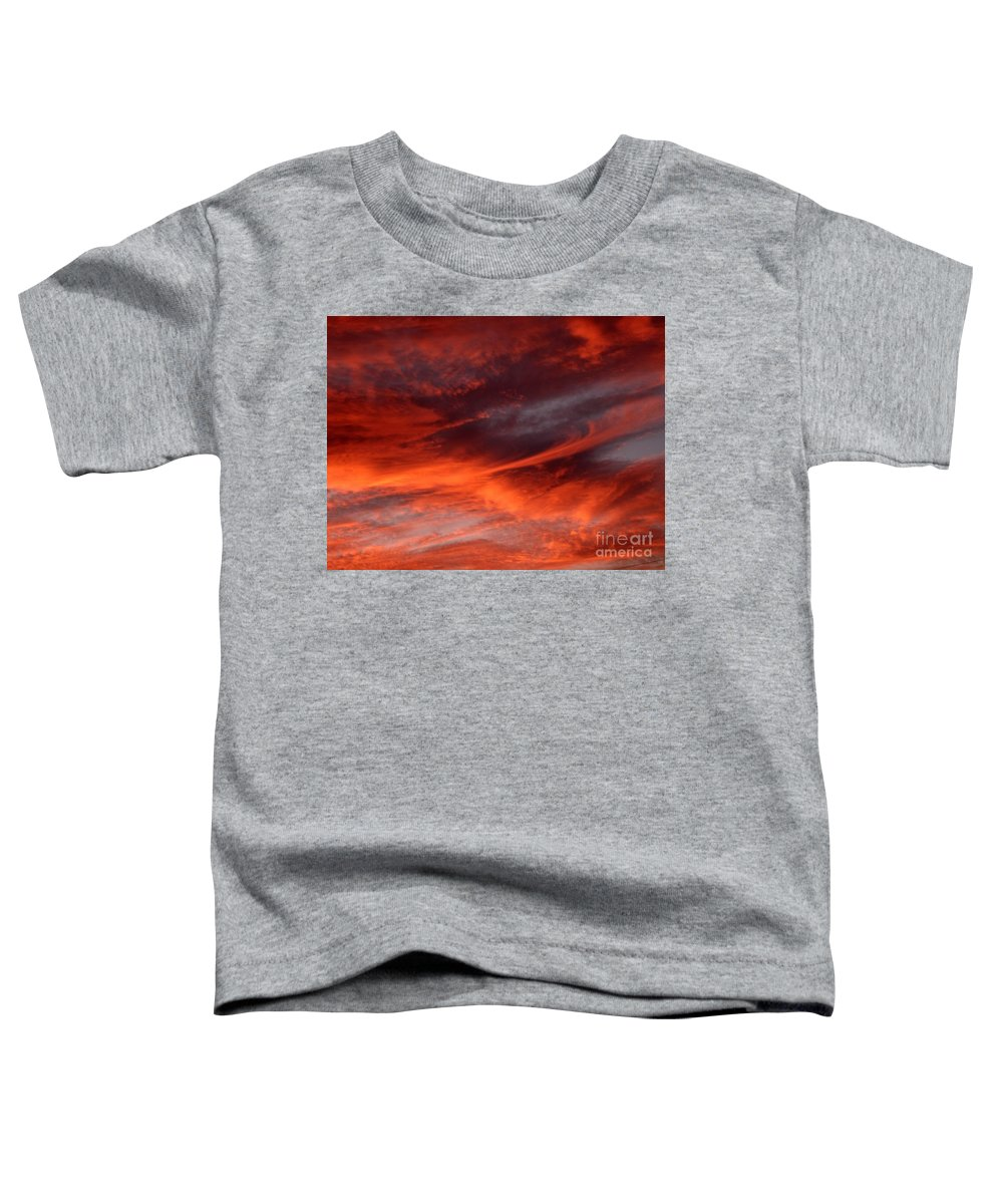 Sunset Toddler T-Shirt featuring the photograph Fire in the Sky by Julia Walsh