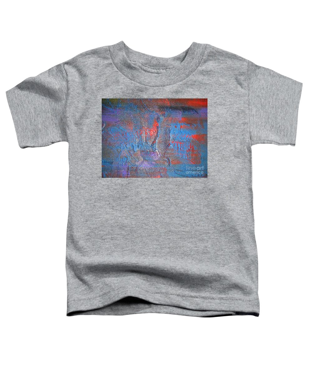 Modern Art Toddler T-Shirt featuring the painting Funny Rain by Silvana Abel
