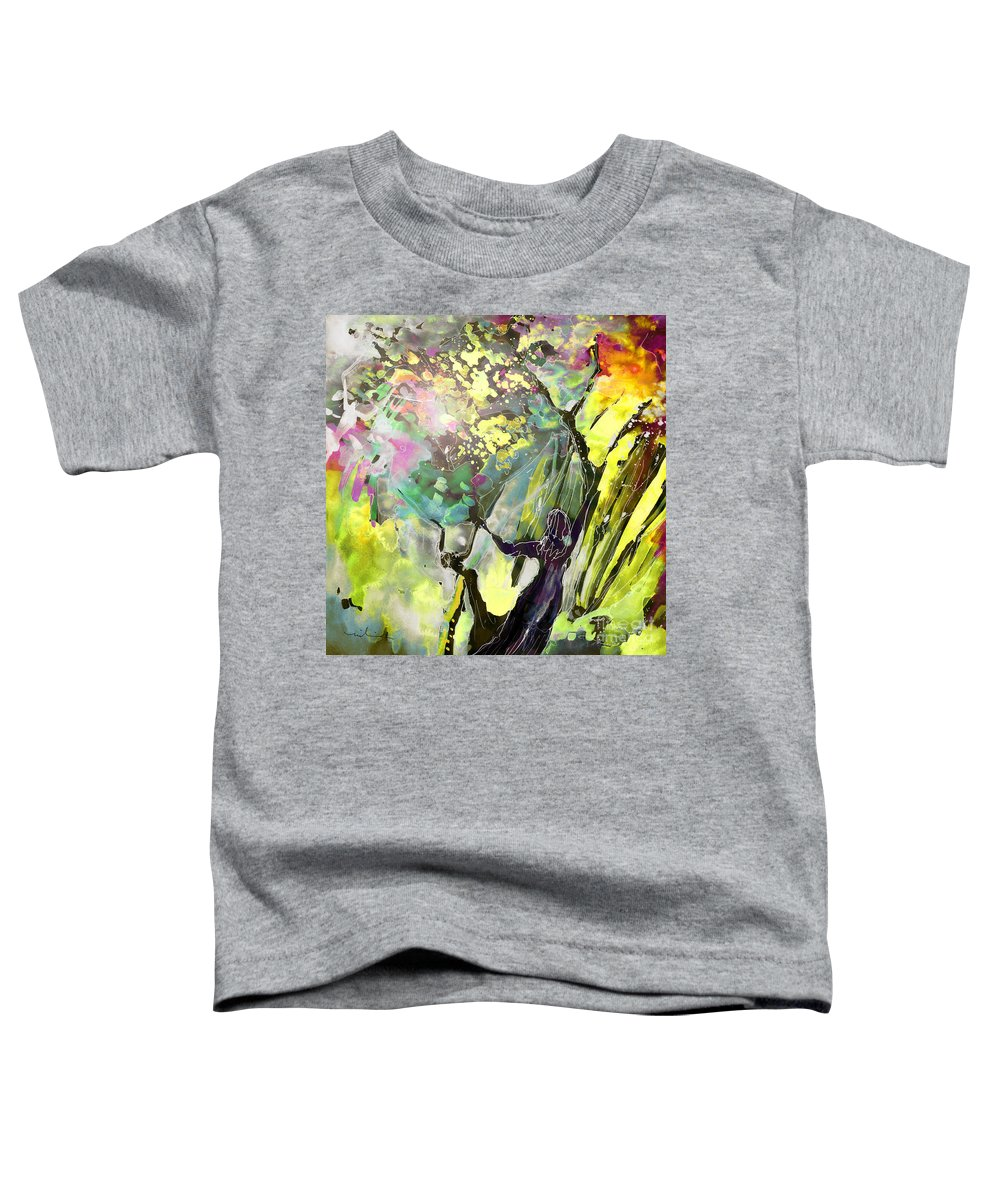 Fantasy Toddler T-Shirt featuring the painting Grace Under Pressure by Miki De Goodaboom