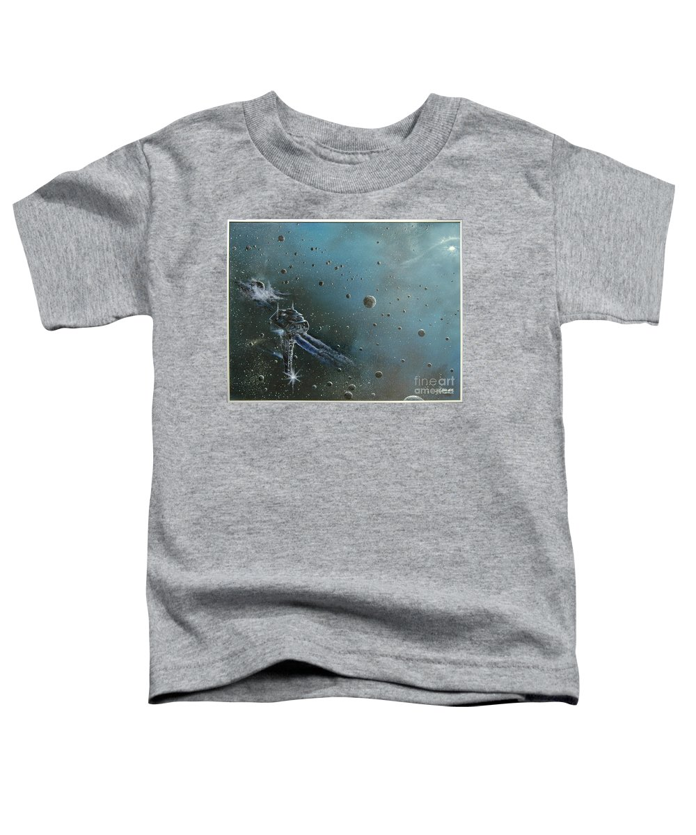 Astro Toddler T-Shirt featuring the painting Hiding In The Field by Murphy Elliott