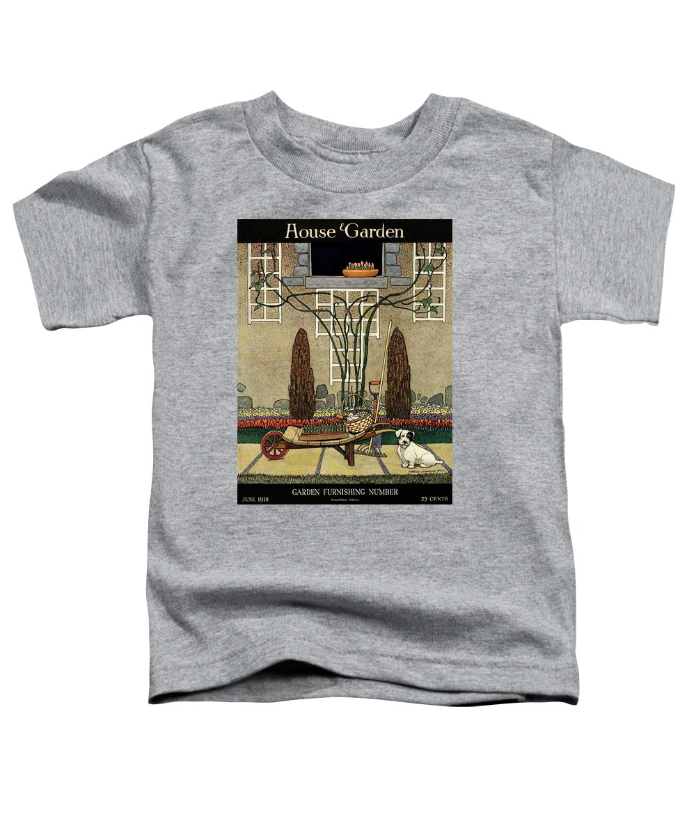 House And Garden Toddler T-Shirt featuring the photograph House And Garden Garden Furnishing Number Cover by Charles Livingston Bull