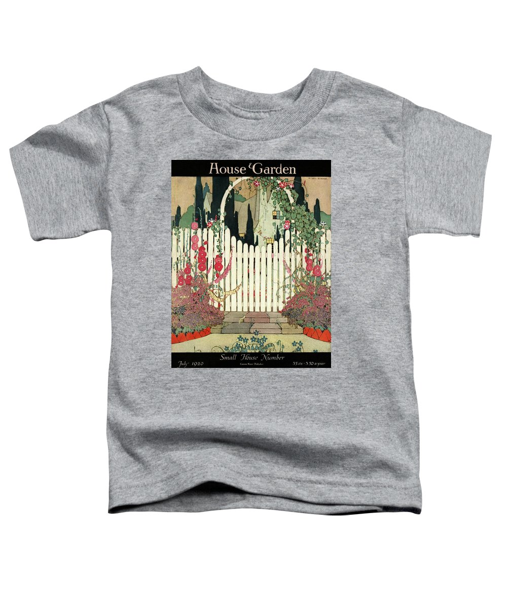 House And Garden Toddler T-Shirt featuring the photograph House And Garden Small House Number by H. George Brandt